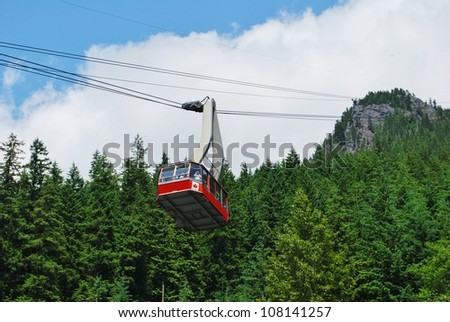 Gondola Ride to Grouse Mountain Top, North Vancouver Canada