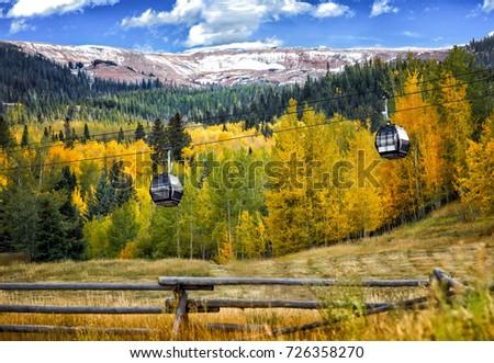 gondola skiing colorado #726358270