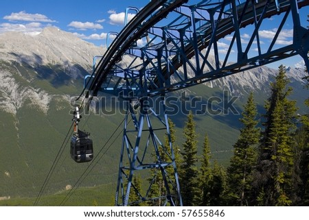 Gondolas in the Rocky Mountains (Banff, Alberta)