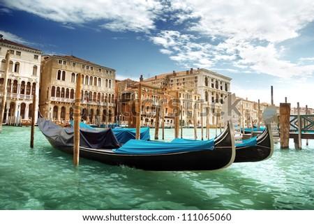 gondolas in Venice, Italy. #111065060