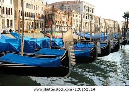 Gondolas in Venice, Italy #120162514