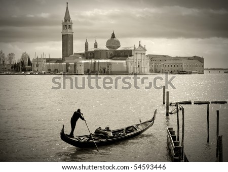 gondolier in front of san...
