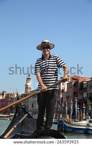 Gondolier in Venice #263593925