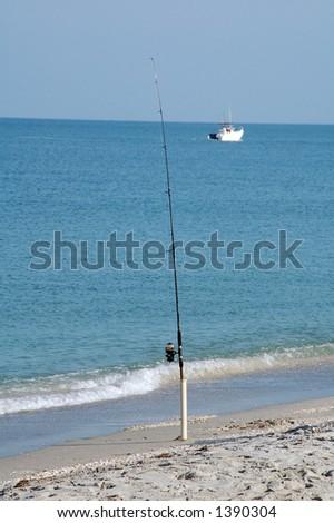 GONE FISHING - stock photo