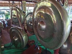 Gong traditional musical instrument of gamelan set