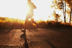 Good health can not be traded, Running is an exercise as simple in order to make health of strong, Young man runner at run for healthy.