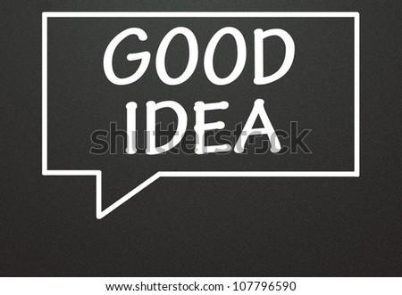 good idea and chat symbol