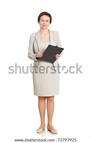 Good looking business woman isolated on white
