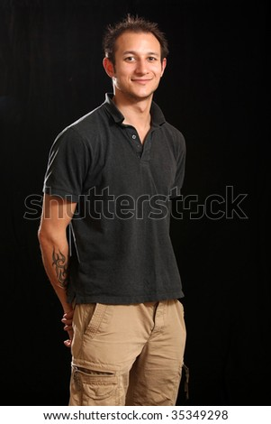 Good Looking Handsome Young Man in a Studio Setting