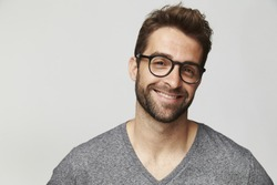 Good looking man in glasses, portrait
