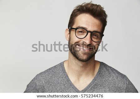 good looking man in glasses ...
