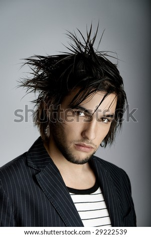 Good looking  young man with modern HairStyle