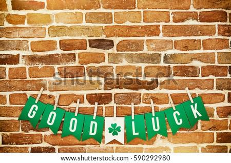 Free Good Luck hand lettering text Photos   Avopix.com