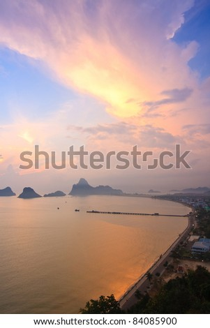 Good morning, Bird eye view, The Beauiful Sea scape, Thailand