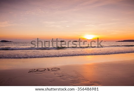 Free Photos Good Morning New Yearhappy New Year 2016 Sand Beach