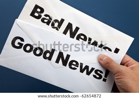 Good News and bad news, Business concept