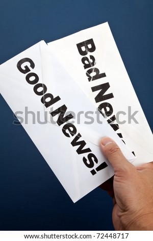 Good News and bad news, Business concept - stock photo
