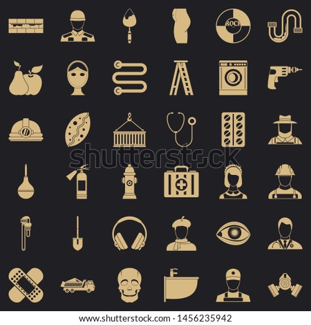 Good occupation icons set. Simple style of 36 good occupation icons for web for any design