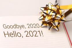 Goodbye 2020 with beautiful decoration. New year is the first day of the year in the Gregorian calendar.