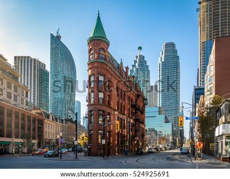 Gooderham or Flatiron Building in downtown Toronto - Toronto, Ontario, Canada