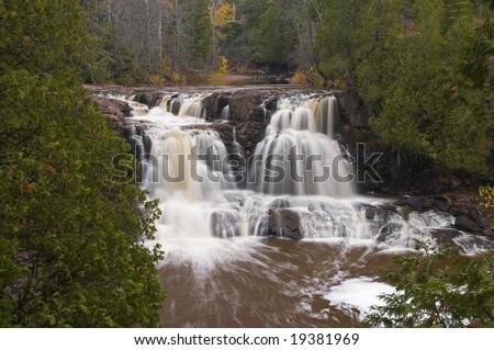 Gooseberry Falls near north shore of Lake Superior