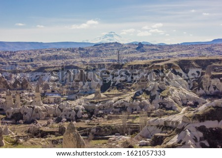 Goreme National Park and the Rock Sites of Cappadocia, volcanic landscape UNESCO World Heritage site . Turkey