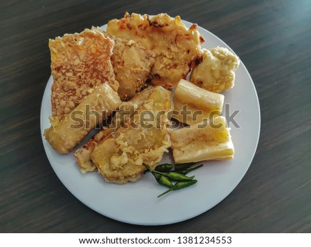 Gorengan: Fried food is one type of popular snack in Indonesia,