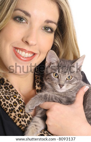 gorgeous blonde with kitty cat