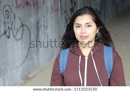 Gorgeous ethnic woman smiling isolated