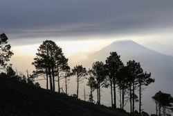 Gorgeous Guatemala - Overnight hike up dormant volcano Acatanango to watch the active volcano Fuego erupting day and night - awesome scenes, power, force, eruptions, rocks everywhere!