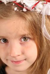 gorgeous little girl headshot upclose