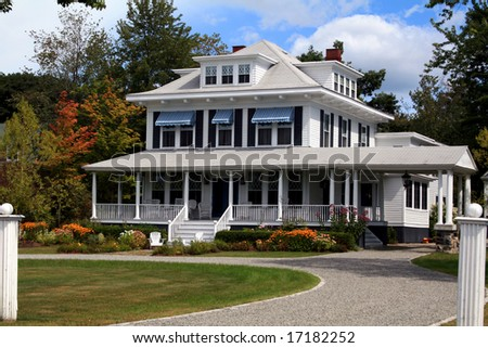 Gorgeous New England Home - stock photo