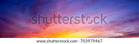 gorgeous panorama twilight sky...