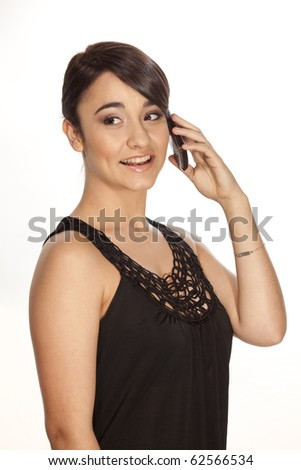 Gorgeous professional woman speaking on her mobile phone.