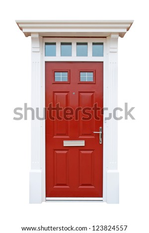 gorgeous red british house door ...