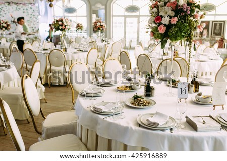 Gorgeous restaurant for the wedding celebration