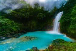 Gorgeous Rio Celeste Waterfall in Costa Rica