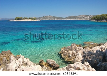 Gorgeous summer landscape of Dalmatian coast, Croatia