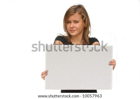 stock photo gorgeous teen model with message board 10057963 Pot Smoking Teen Found with Brass Knuckles. 1/4/2011. Printer friendly