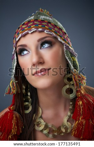 Free Photos Beautiful Young Native American Indian Woman On Blue