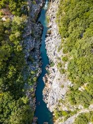 Gorges de la Méouge france aerial view