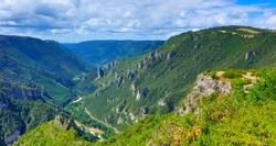 Gorges du Tarn, Occitanie in France landscape