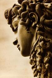 Gorgon Medusa by Benvenuto Cellini at the Loggia della Signoria, Florence.