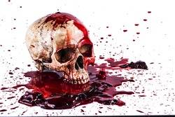 Gory Halloween skull