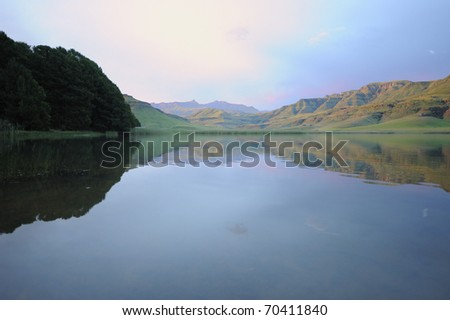 goschen lake, giant's cup wilderness reserve, southern drakensberg, kwazulu natal, south africa