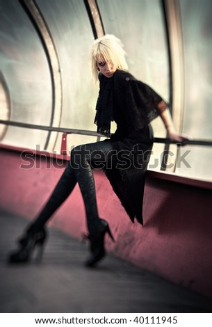 Goth woman