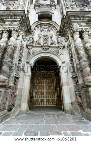 GOTHIC ARCHITECTURE IN QUITO, ECUADOR REMAINS OF SPANISH OCCUPATION,