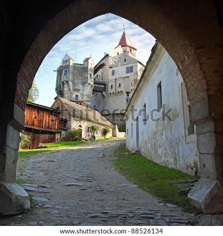 Gothic castle Pernstejn, Czech Republic