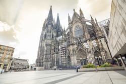 Gothic cathedral in Koln, Germany, Europe .