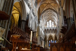 Gothic cathedral interiors